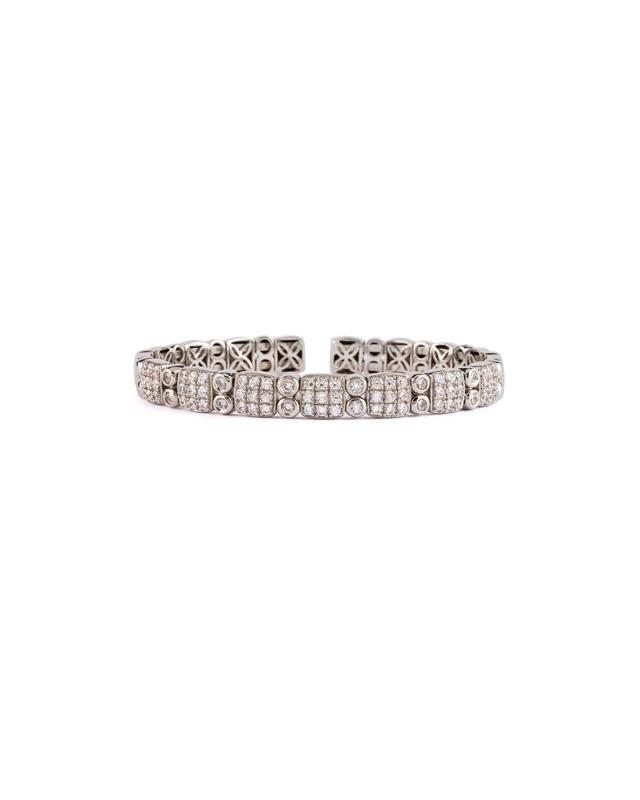 priza de fabrica top fashion stilul rafinat Bratara din argint rodiat si cubic zirconia
