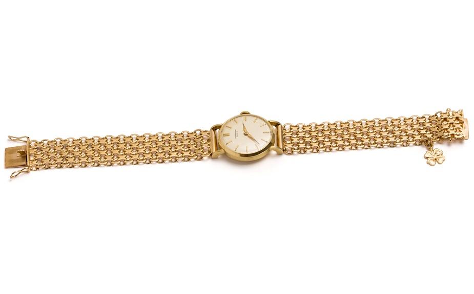 ceas din aur pentru femei tip bratara
