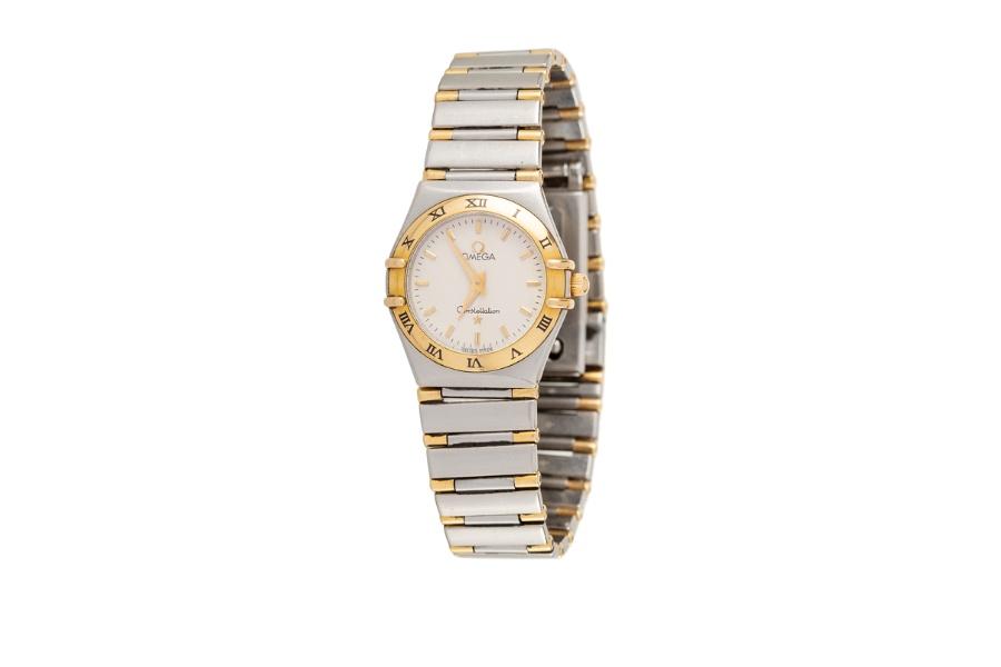 ceas din aur in doua tonuri