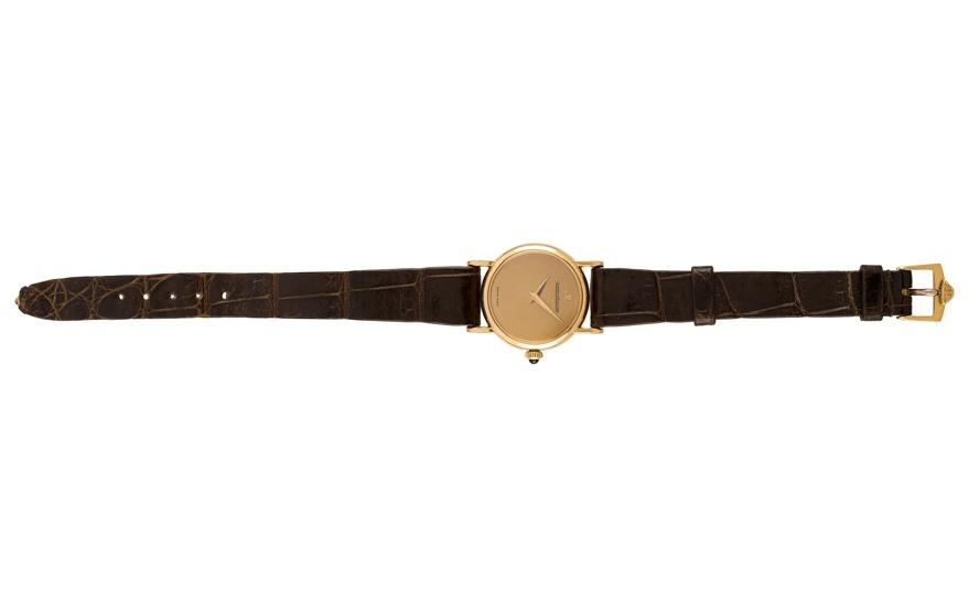 ceas din aur pentru femei cu bratara din piele