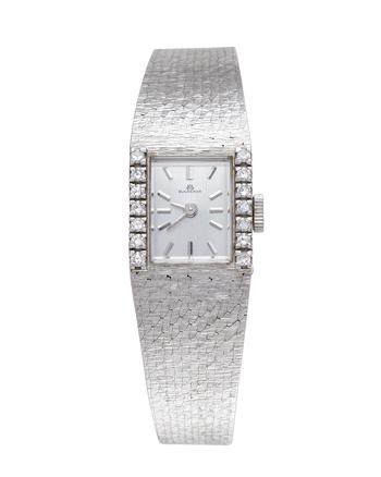 Ceas original Bucherer din aur alb de 18k cu diamante naturale