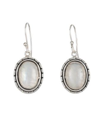 Cercei din argint cu piatra lunii