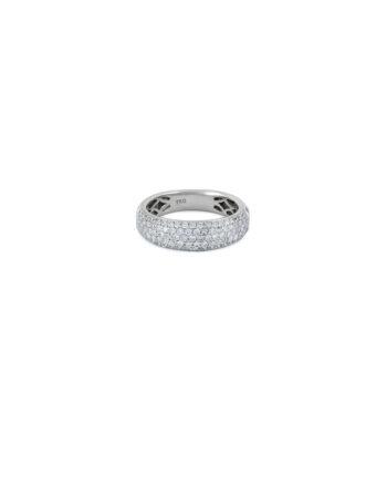 Inel din aur alb de 18k cu diamante naturale